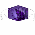 Purple Paisley Custom Face Mask